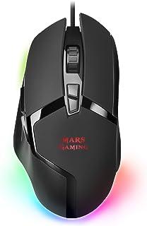 Mars Gaming MMGX Ratón RGB Chroma, Ultraligero, Sensor Ópt