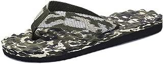 QinMei Zhou Men's Cool Thong Classic Flip Flops Beach Sandals Slipper (Color : Green, Size : 6 UK)