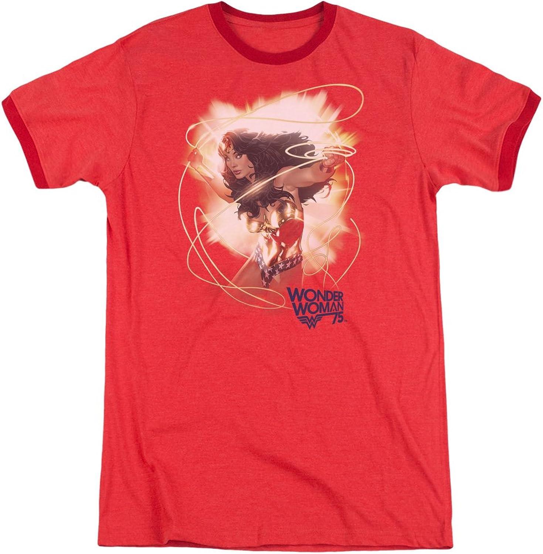 Wonder Woman - Mens 75Th Burst Ringer T-Shirt
