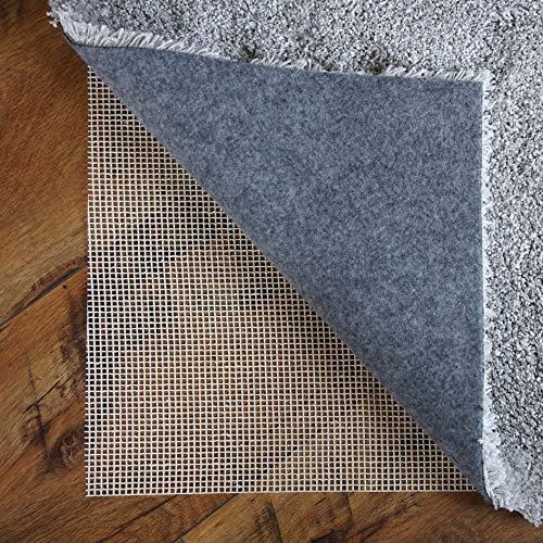 LILENO HOME Anti Rutsch Teppichunterlage aus Glasfaser (120x180 cm) - Fußbodenheizung geeignete Teppich Antirutschmatte für Glatte und Harte Böden - Teppichstopper für EIN sicheres Zuhause