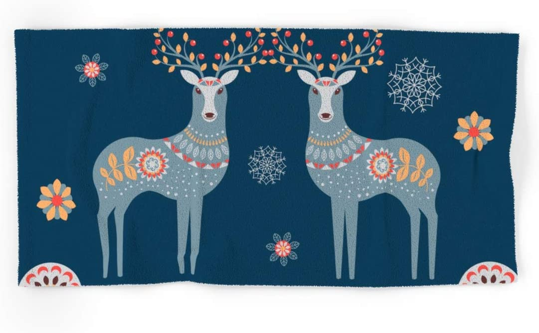 Rapid rise Society6 Nordic Winter Blue by Lavieclaire Bath New Free Shipping on and Hand Towe