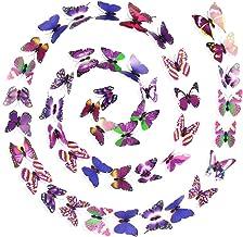 Exceart 200 stks Vlinder Muurstickers 3D Muurstickers Koelkast Magneten Muurschildering voor Kids Thuis Kamer Slaapkamer H...
