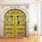 Nyngei Islámica Tradicional tunecina Puerta Ducha Cortina Ganchos Impermeable Tela Forro 183X183CM
