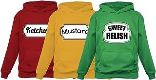 Ketchup Mustard & Sweet Relish Halloween Easy Costume Matching Group Set Hoodies
