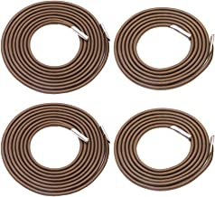 Universal 4 Replacement Cords for Zero Gravity Chair Replacement Laces Premium Bungee Ropes Recliner Repair Parts for Lounge Chair Anti Gravity Chair Bungee Chair (Coffee, 4 Cords( 2 Longs + 2 Shorts)