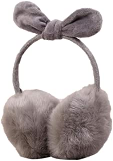 Winter Earmuffs Warm Wool Knitted Ear Warmer Foldable Faux Cashmere Ear Muff Ear Cover Bag Back Wear Earflap For Men Women,E