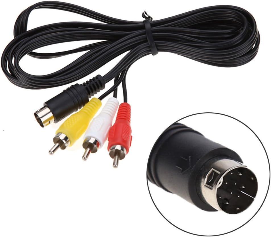 Childhood 1.8m Audio Video Cable de cable AV 9Pin a RCA Cable de conexión para Genesis 2 3