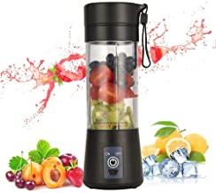Portable Blender, Personal Size Blender USB Juicer Cup, 13oz Fruit Mixer Machine with 2000mAh Rechargeable batteries, Mini...