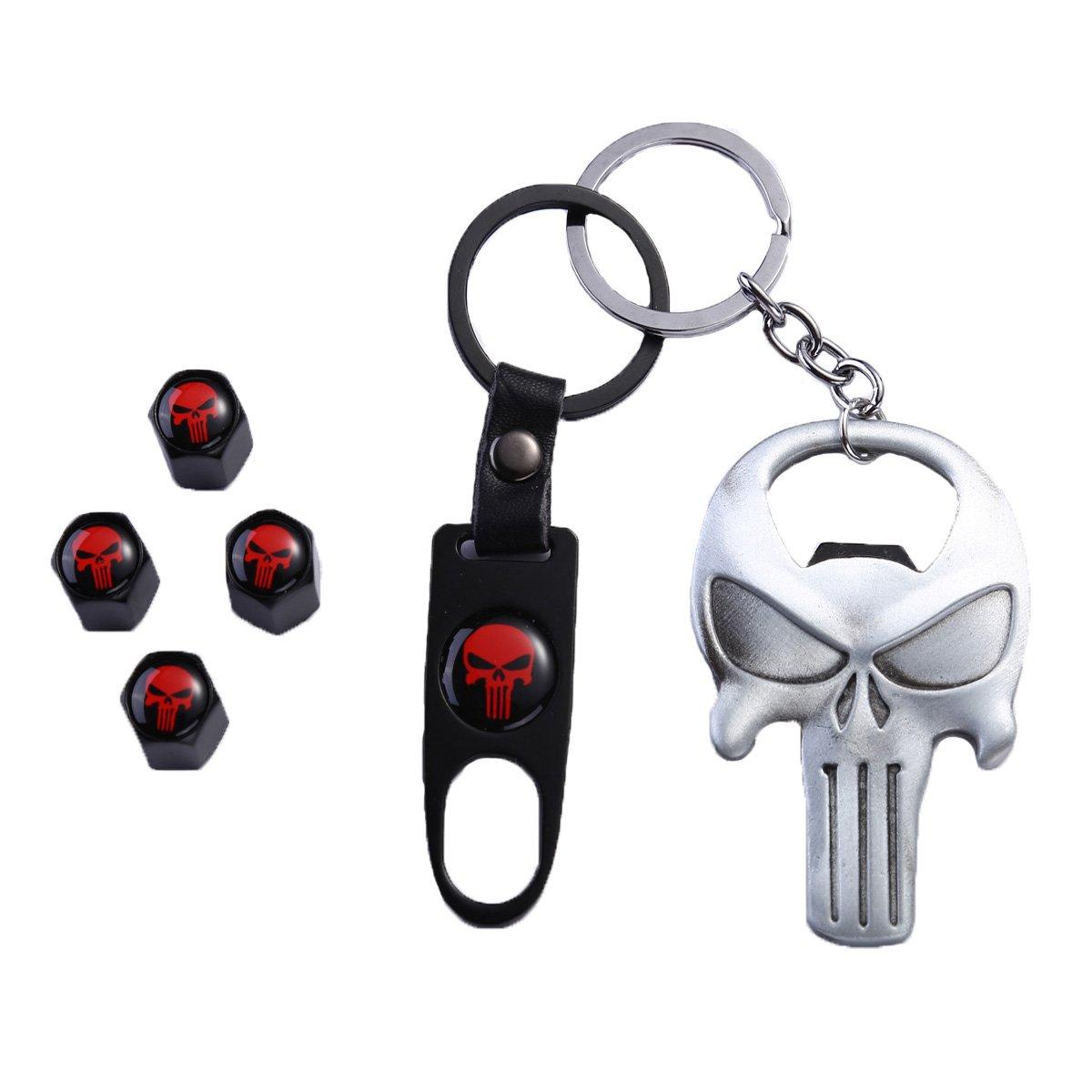 Dsycar Black Car Motorcycle Keychain Key Ring