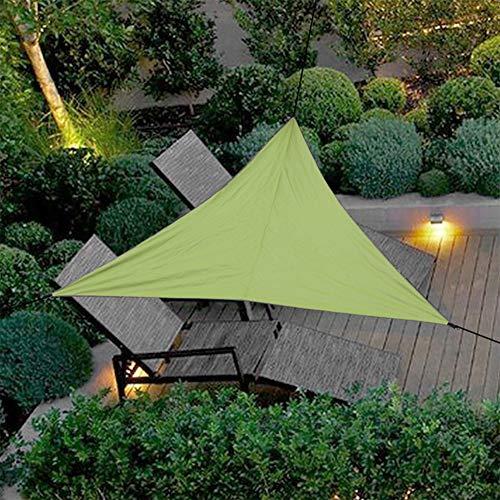 Uni-Wert Sonnensegel Dreieckig 4 x 4 x 4 m Grün PES Polyester UV-Schutz Wasserdicht Sun Segel Sonnenschutz Garten Balkon Terrasse Im Freien