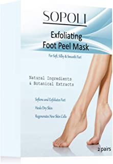 Exfoliating Foot Peeling Mask for Soft Touch Smooth Feet - Dead Skin Remover Peeling Away Calluses - Repair Rough Heels - Soak Socks Booties for Baby Soft Silk Feet - Dry Dead Skin Natural Treatment