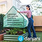 Danjani outdoor raised garden bed with drop over greenhouse - durable, anti-rust steel flower beds - 71. 3 gal planter… 11 perfect for every gardener: whether you're an experienced gardener or as new as freshly grown sprouts, this raised garden bed kit is perfect for you. The planter box makes growing herbs, vegetables and plants easy and stress-free. Enjoy low maintenance with the greenhouse, which provides weather protection, keeping heat and moisture in, and bugs and critters out. Protect and nourish plants: the greenhouse drop over can increase plant yield by providing a warm and nourishing environment to grow in. It also protects from extreme weather, making it possible to grow plants that normally wouldn't fare well in your area. Enjoy year-round fruits and vegetables with the option to grow in the winter. Save money: the rising cost of herbs and produce makes eating healthy an expensive option. But it doesn't have to. Growing your own food can be rewarding, not only for your body and mind but for your wallet too. Have year-round access to some of your favorite fruits, vegetables, and herbs with only the minimal cost of growing them!