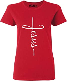 shop4ever Jesus Cross Women`s T-Shirt