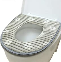 Toilet Seat Cover Pads, Washable Toilet Seat Cushion Mat Winter Washable Toilet Seat Lid Cover Pads (Gray)