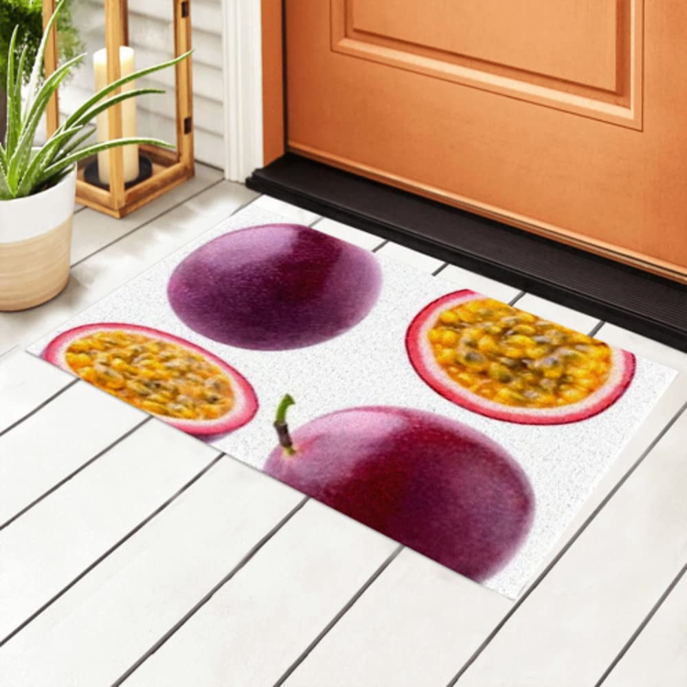 JIUCHUAN Max 73% Denver Mall OFF Indoor Doormat Isolated C Collection Passionfruit Whole