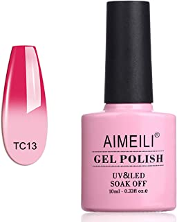 AIMEILI Soak Off UV LED Temperature Colour Changing Chameleon Gel Nail Polish - Hot Pink To White (TC13) 10ml