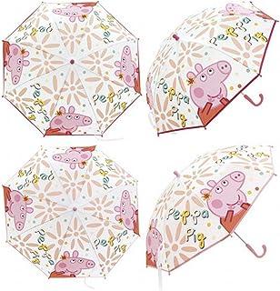 Zaska Parapluie Automatique Flament Rose En Polyester Blanc 58Cm Paraguas cl/ásico 70 cm Blanco Blanc