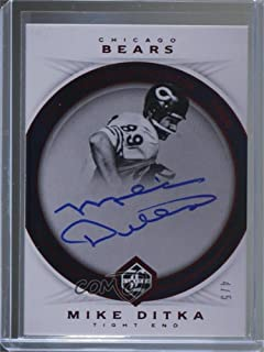 Mike Ditka #4/5 (Football Card) 2017 Panini Limited - Ring of Honor Autographs - Spotlight Ruby #RHA-MD