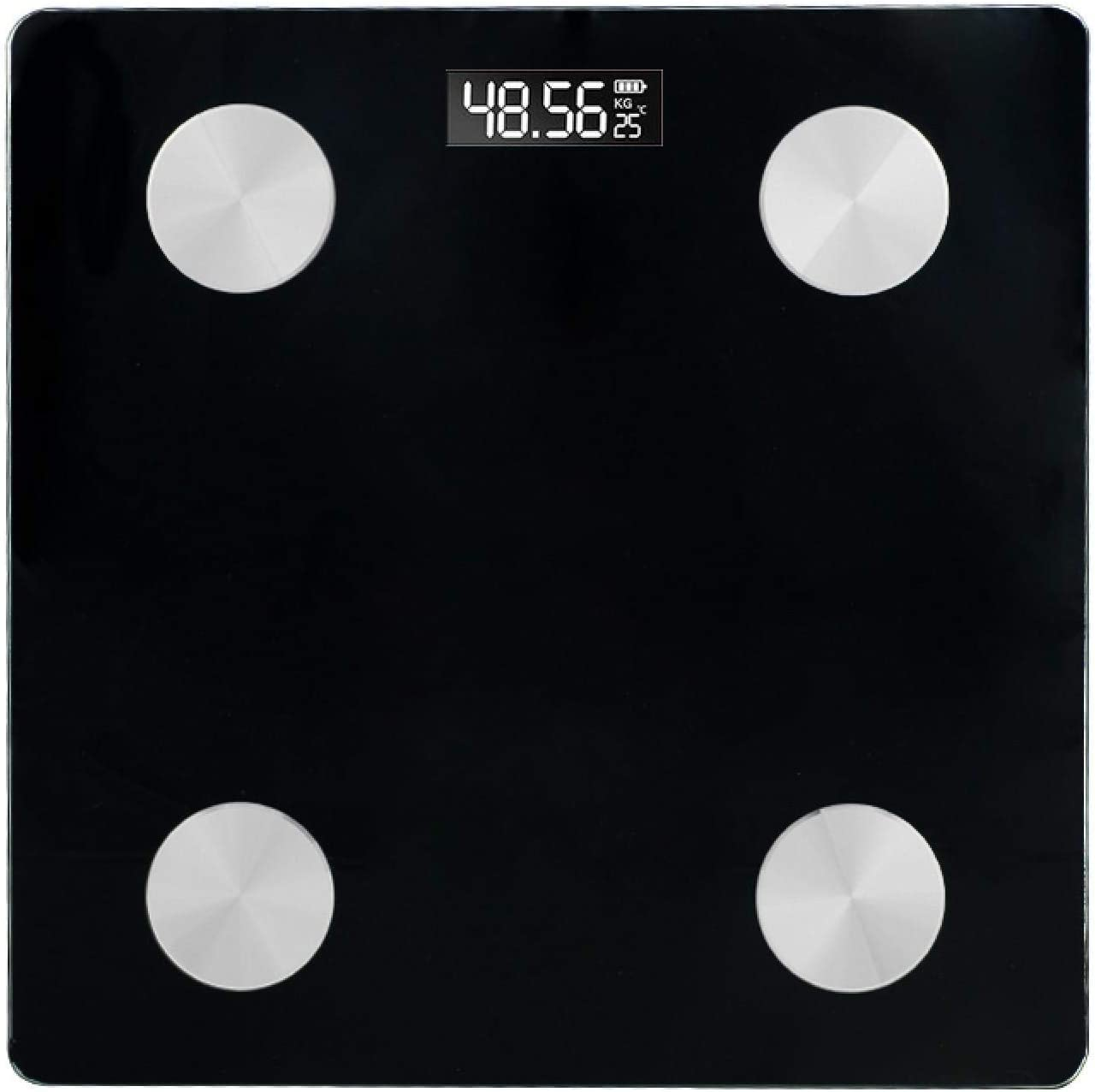 Balanza de grasa corporal balanza de baño Bluetooth piso cuerpo báscula IMC grasa báscula LED digital inteligente balanza de peso equilibrio corporal analizador de composición de cuerpo negro