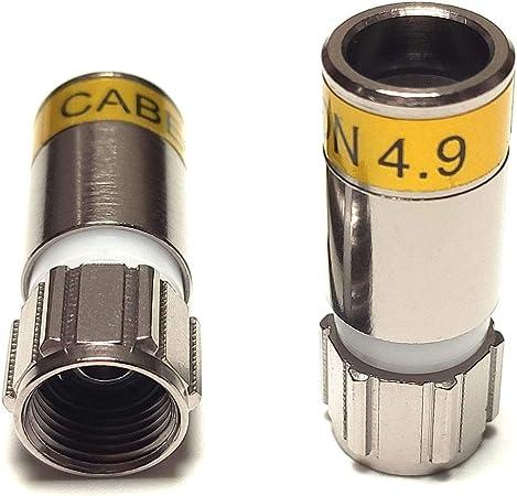 50 Stück Cabelcon Kompressionsstecker F 56 Cx3 4 9 Elektronik