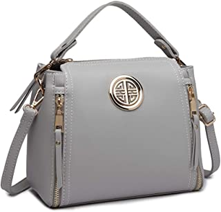 Miss Lulu Women Top Handle Bag Pu Leather Cross Body Bag Handbag Purse Small Classic Ladies Shoulder Bag