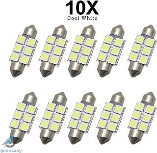 10x 42mm 16 LED Voiture Interieur Blanche SMD 3528 Plafonnier Lampe Ampoule 211-2 578 212-2 R SODIAL