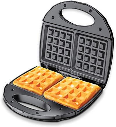 PowerPac Double-sided Heating Electric Waffle maker with Non-stick coating plate, (PPT252)