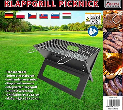ACTIVA Grill Klappgrill Picknickgrill Holzkohlegrill - 2