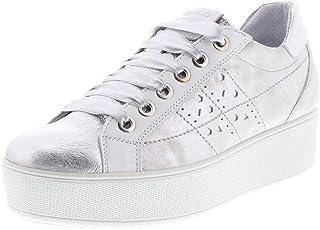 IGI&CO 3155911 Argento Scarpe Donna Sneakers Lacci Pelle Platform