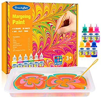 Dreamingbox Water Marbling Paint Kit for Kids Water Art Paint Set for Kids Age 4-12 Easter Birthday Gifts for 5-12 Year Old Girls Boys Creative Toys for Girls Kids Age 4-12 Art Kits for Kids 4-12
