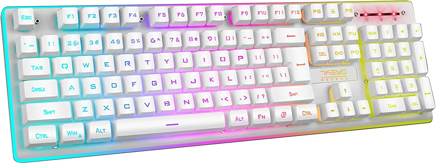 Shavanpark 2.4G Courier shipping free Wireless Gaming Keyboard Wired Translated 104 Keys Game Ke