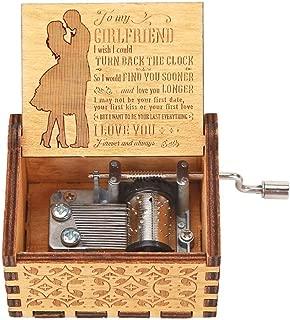 YanHeMingKeJi Caja de música de Madera grabada Caja de Regalo Musical manivela Moana Caja de música para niños, decoración del hogar Manualidades, Music Box- B, Music Box- B