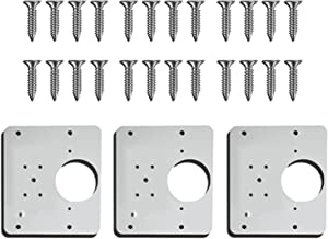 lefeindgdi Scharnier Reparatie Plaat, Kast Scharnier Reparatie Beugels, 1/3/6 stks Scharnier Reparatie Plate, Keuken Kast ...