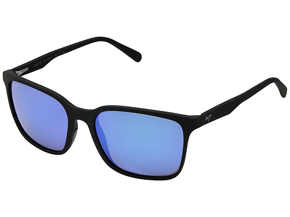 Maui Jim Wild Coast (Matte Black/Blue Hawaii) Athletic Performance Sport Sunglasses