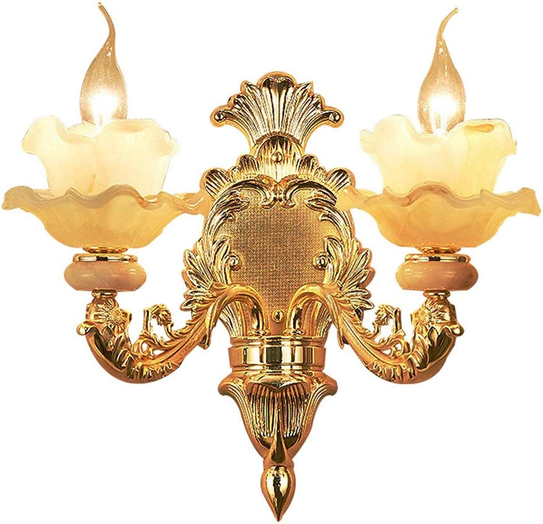 Mode Doppeltes Hauptschlafzimmer Der Europischen Jadewandlampe Wohnzimmerhintergrundwandzinklegierungsduplexgebudevillaatmosphrewandlampe Schn
