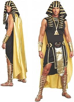 Traje faraón Unas talla L, rey de Egipto disfrazar carnaval egipcios: Amazon.es: Juguetes y juegos