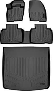 MAXLINER Custom Fit Floor Mats 2 Rows and Cargo Liner Trunk Set Black for 2016-2018 Lincoln MKX / 2019 Nautilus