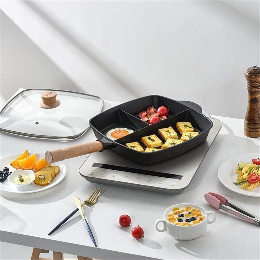 Poêle multifonctions Poêle maison Petit-déjeuner Poêle plat Poêle Batterie de cuisine pour la maison Cuisine (Color : 28Y) 28n