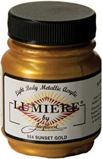 Jacquard Lumiere Metallic Acrylic Paint 2.25 Ounces-Sunset Gold
