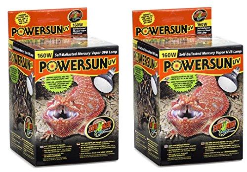 Zoo Med PowerSun UV Mercury Vapor Lamps 160 Watts (2 Pack)