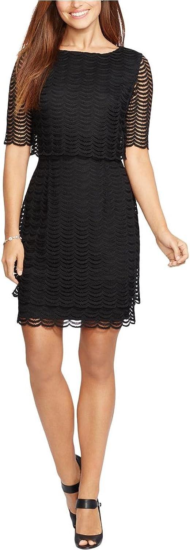 American Living Womens Popover Sheath Dress Black 8