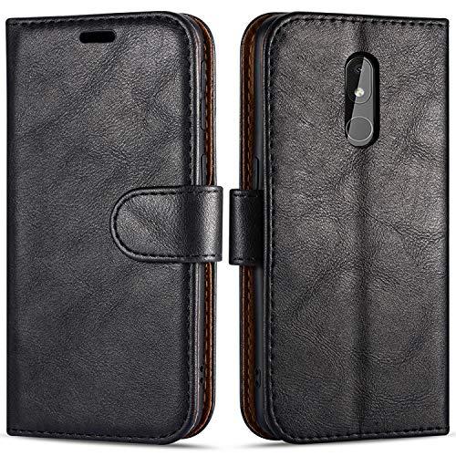 """Case Collection Étui de Style Portefeuille avec Rabat pour Coque Nokia 3.2 (6,26"""") en Cuir de première qualité avec emplacements Carte de crédit et Monnaie pour Nokia 3.2 Coque"""