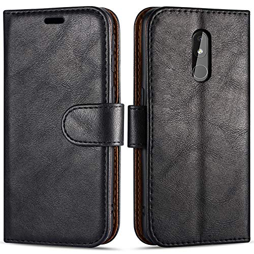 Hülle Collection Hochwertige Leder hülle für Nokia 3.2 Hülle (6,26