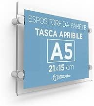 formato A5 confezione da 100 pezzi Busta porta avvisi con occhiello per affissione DURABLE 229719 trasparente