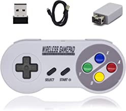 Wireless Controller for Super NES Classic/PC, BRHE SNES Classic Mini Wireless Controller for Nintendo SNES Classic 2.4G Rechargeable Gamapad Joystick with USB Adapter for Windows MAC OS Raspberry PI