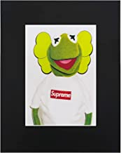 XQArtStudio Supreme X Kermit The Frog Print Poster Matte Urban Street dope Cool 8x10 Black Matted Art Artworks Print Paintings Printed Picture Photograph Poster Gift Wall Decor Display