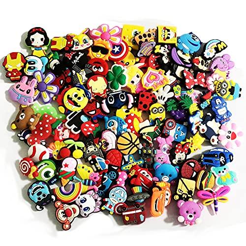 SEIS CLR-M 100 piezas de accesorios para zapatos para niñas y niños, TPU, Sin gemas.,