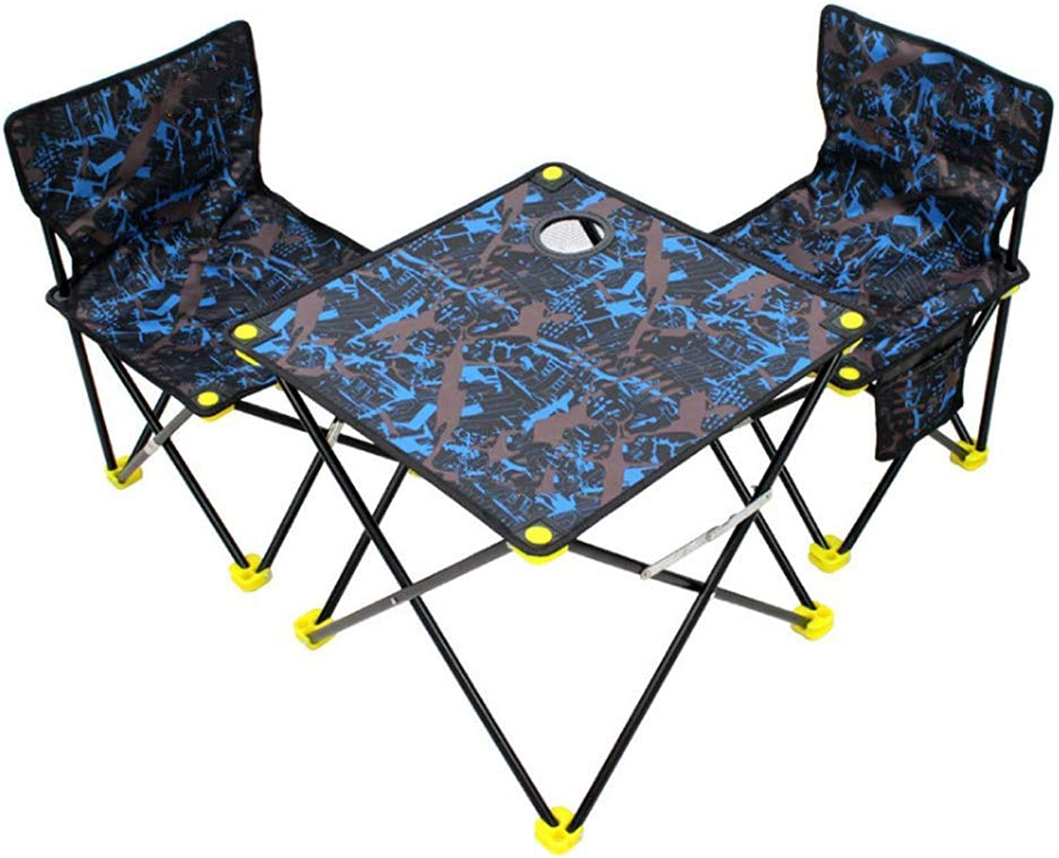 SPTAIR Two Folding Camping Chair and Table, Lightweight for Camping Suit, Beach, Backpacking & Outdoor Festivals Compact & Heavy Duty Supports 264 lbs
