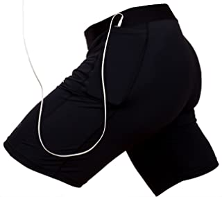 mma compression shorts with cup pocket