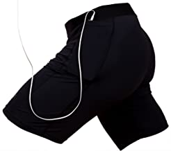 THE II BRO Compression Shorts with Pockets for Running/Workout